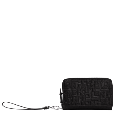 Portefeuille compact Noir